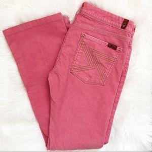 7FAMK Pink Flynt Corduroy Pants Size 31